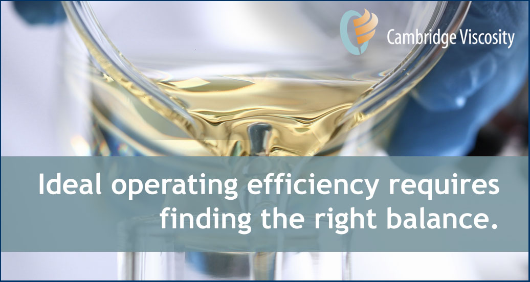 Efficiency requires finding the right balance