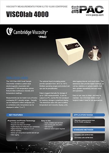 VISCOlab 4000 Product Data Sheet Thumbnail